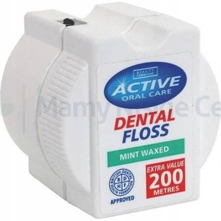 BEAUTY FORMULAS ACTIVE Nić dentystyczna miętowa woskowana 200 m