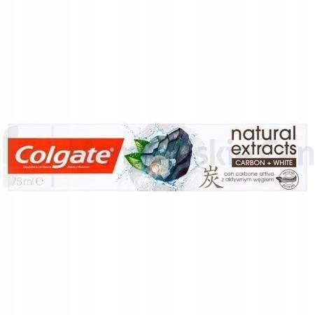 COLGATE NATURAL CHARCOAL+WHITE Pasta do żebów 75 ml