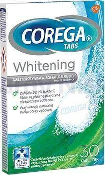 Corega Tabs Whitening 30 tabletek czyszczących
