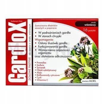 Gardlox Ziołowe Tabletki smak wiśniowy 16 pastylek