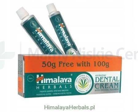 HIMALAYA Pasta do zębów z fluorem 100+50g