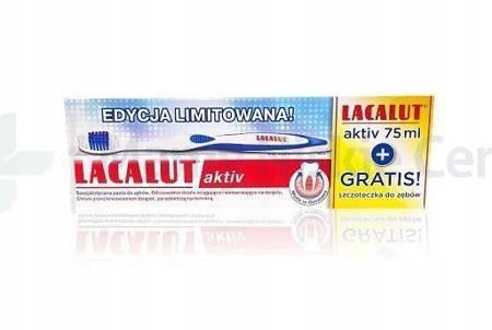 LACALUT AKTIV Pasta dp zębów + Szczoteczka do zębów