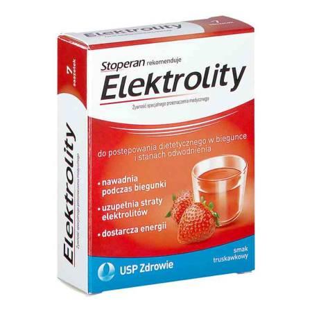 Stoperan Elektrolity truskawka 7 saszetek