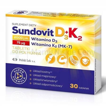 Sundovit D3+K2 30 tabletek